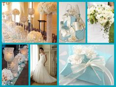 Tiffany theme wedding Tiffany Blue Party, Tiffany Theme, Breakfast At Tiffanys, Color Combinations, Favorite Color, Classy, Black And White, Wedding Dresses, Inspiration