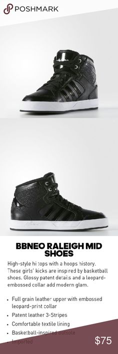 ADIDAS BBNEO Raleigh Mid Shoes Adidas Raleigh Mid Shoes in Black. Size 7 1/2. Retails $75 w/ tax. *Not selling at the moment. Check out more items in my closet! Follow me! Adidas Shoes Athletic Shoes