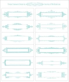 Vintage Framework Labels by Cathe Holden | Worldlabel Blog