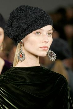 Textured hat detail at the Ralph Lauren Fall '13 Collection Runway Show