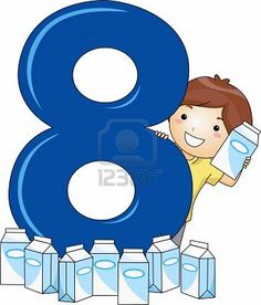 Illustration Of A Kid Surrounded By Milk Cartons Stock Photo, Picture And Royalty Free Image. Preschool Letter Crafts, Numbers Preschool, Learning Numbers, Letter A Crafts, Math Numbers, Teaching Aids, Teaching Math, Classroom Rules, Classroom Decor