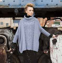 """I am so excited to introduce to you my latest design, the """" Cabled Poncho """" that was picked up by Vogue Knitting Early Fall 2011 ! Poncho Shawl, Knitted Poncho, Knitted Bags, Knitted Gifts, Capelet, How To Start Knitting, How To Purl Knit, Knit Purl, Vogue Knitting"""
