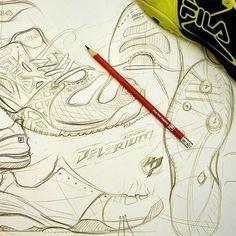 FILA Cage Delirium tennis shoe sketches