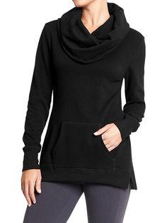 Women's Cowl-Neck Fleece Pullovers Product Image