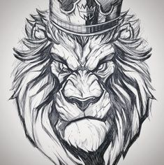 Lion king #TattooIdeasDibujos
