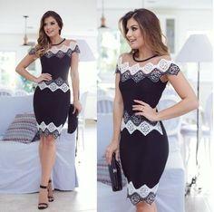 Vestido Preto e Branco Bete - Mabô Boutique - Loja especializada em moda…