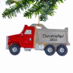 Personalized Dump Truck Christmas OrnamentFree by Christmaskeeper, $13.95