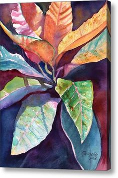 Colorful Tropical Leaves 3 Canvas Print / Canvas Art By Marionette Taboniar