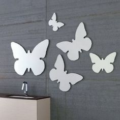 Specchio e specchiera Farfalla - Archeda