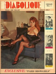 Diabolique no 1 1967 vintage adult straight magazine collectible