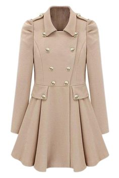 Shop Double-breasted Cream Trench Coat at victoriaswing, personal womens clothing online store! high quality, cheap and big discount, latest fashional style!