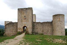 Puivert, château cathare dans l'Aude, Languedoc