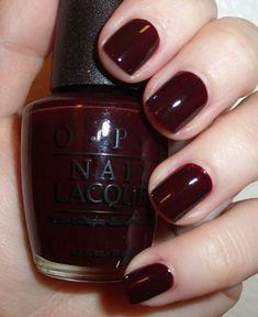 Opi's hollywood and wine nail polish.