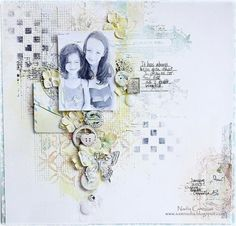 Scraps of Elegance kit club - created by Nadia Cannizzo with the April Possibility kit Mixed Media Scrapbooking, Kids Scrapbook, Scrapbook Designs, Scrapbooking Layouts, Scrapbook Cards, Digital Scrapbooking, Vintage World Maps, Paper Crafts, Crafty