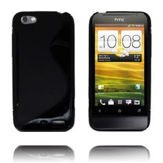 S-Line Massive (Sort) HTC One V Deksel