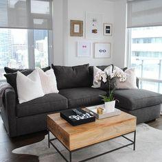 Condo decor by yours truly! #condo #design #decor #condo #interior #westelm #couch #ishouldhavegoneintointeriordesign #home