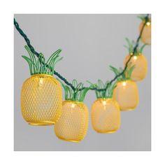 Construction String Lights Set Of 10 Metal Pineapple Shaped Lanterns String Lights  Lantern