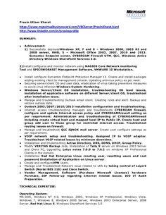 pravin uttam kharathttps mcpvirtualbusinesscard vbcserver system administrator resume sample - System Administrator Resume