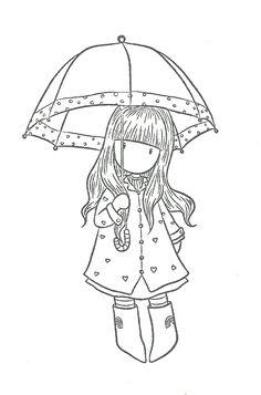 Gorjuss con paraguas.