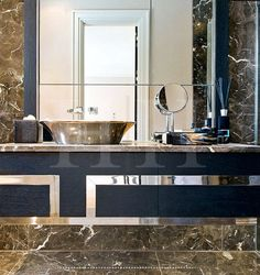 Bathroom - Luxurious materials with a fine eye for detailing makes for an exquisite statement in design.