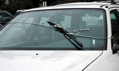 manual windshield wiper -Introducing, the world's only manual windshield wiper.