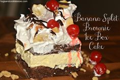 What could be more fun than receiving scrumptious brownies in the mail from Fairytale brownies and being asked to turn them into a fabulous creation!!!! This was right up my alley. For this Banana Split Brownie Ice Box Creation I used their cream cheese brownies! Sinful, I tell you! You can visit their site here …