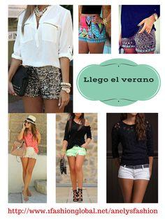 Excelentes atuendos para tu dias de verano.  Visita:  http://www.1fashionglobal.net/anelysfashion