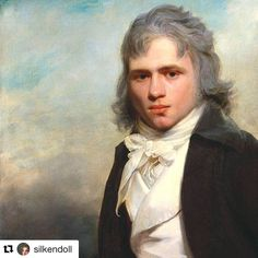 ab. 1795 Sir William Beechey - Thomas Law Hodges  I like his blue hair powder  #art #painting #portrait #neoclassical #1790s #1700s #18thcentury #hairpowder #bluehair #gentleman #dandy #artcrop #history #arthistory #bluemonday