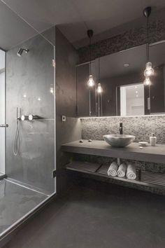 30 Bathroom Color Schemes You Never Knew You Wanted . 30 Bathroom Color Schemes You Never Knew You Wanted … 30 Bathroom Color Schemes You Never Knew You Wanted More <! Modern Bathroom Design, Bathroom Interior Design, Decor Interior Design, Bathroom Designs, Luxury Interior, Modern Design, Modern Contemporary, Modern Luxury, Contemporary Cabinets
