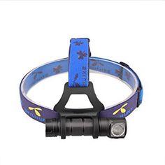 Skilhunt H03 LED Headlamp 18650 EDC Flashlight Max Output ANSI 1000 Lumens / 1200 LED Lumens Waterproof Cree LED Headlight for Outdoor Sports Hands-free Camping Light Brightness Flood Light