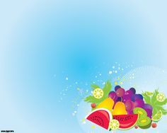 This is a food related background design for PowerPoint as it presented a collection of fresh fruit such as watermelon melon kiwi and even lemons and pea Buah
