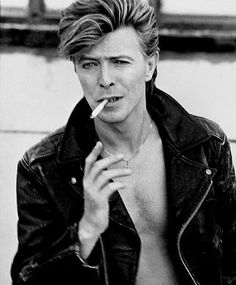 David Bowie photographed by Herb Ritts in LA, even with a cigarette still The Man Who Fell To Earth and such a Thin White Duke... Call me his duchess. ;)