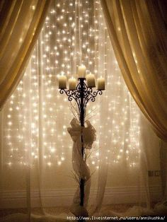 sparklies.  for my room, the tan curtains would be a soft lavender color