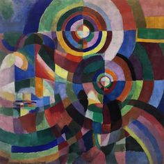 Current mood. Prismes électriques, Sonia Delaunay, 1914.