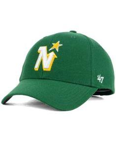 '47 Brand Minnesota North Stars Curved Mvp Cap - Green Adjustable