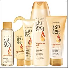 Skin So Soft Signature Silk.   My new favourite AVON product :)  http://ashleighary.avonrepresentative.com/