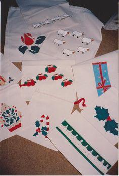 Saquinhos de presente pintados à mão