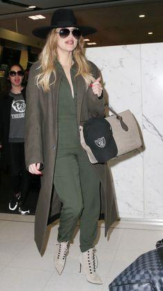 Purse – Celine Hat – Maison Michel Jumpsuit – Kardashian Kollection shoes –  Balmain Coat – Haider Ackermann similar style hats by the same designer    6dd606c7ad7a