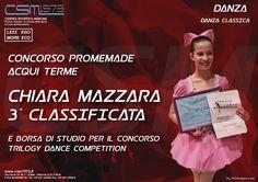 Concorso promemade acqui terme CHIARA MAZZARA  3° CLASSIFICATA e borse di studio per il concorso trilogy dance competition  Www.csm1973.it  Centro Sportivo Merone  #danza #classica #palestra #fitness  #centrosportivomerone #csm1973 #Merone #Erba #Lecco #Como