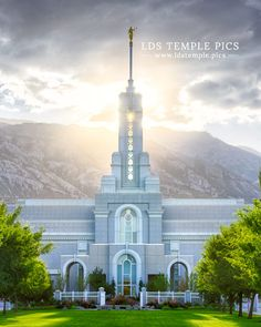Mount Timpanogos Temple - Morning Sun - LDS Temple Pictures