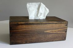 Wood Tissue Box Cover Tissue Box Holder by SouthernHomeSupply