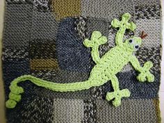 Gecko Toy Bookmark - free crochet pattern by Suzetta Williams