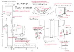 how to make a hanten translated to English, from JapaneseSewing Books.com
