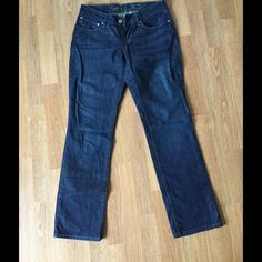Levi's distressed jeans Slight curve/straight leg Levi jeans. Worn only once. In excellent condition. Levi's Jeans Straight Leg