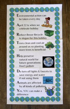 This poster teaches students about Earth Day and presents information on how to celebrate the holiday by caring for the environment. Written as an acrostic poem, it also makes a great model when teaching a poetry unit. A blank template is included for students to write their own acrostic poems about Earth Day. This poster is part of a larger product of 16 acrostic holiday posters. FREE!