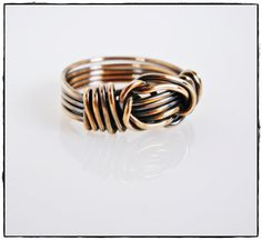 Men's Wire Wrapped Knot Ring by TTJJewelry on Etsy
