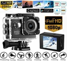 HD Sports Cam Waterproof on Mercari Sports Camera, Sports Party, Sport Photography, Sport Motivation, Sports Illustrated, Camcorder, Hd 1080p, Water Sports, Underwater