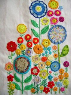 modflowers: flower embroidery