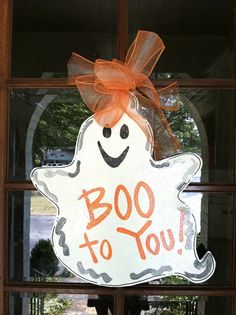 Boo to You by BronwynHanahanArt on Etsy, $45.00
