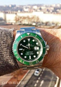 L'incroyable Hulk ! Montre Rolex Subariner verte 116610 LV Céramique Full Set